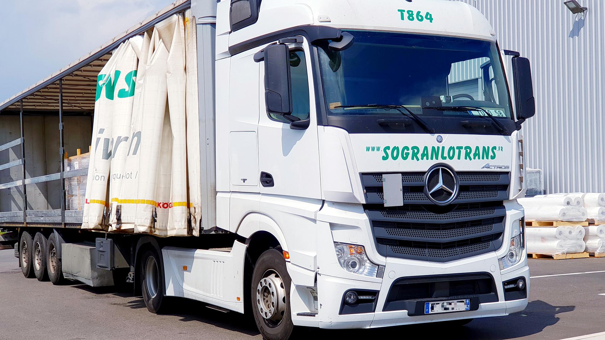 Sogranlotrans Camion semi-bâché