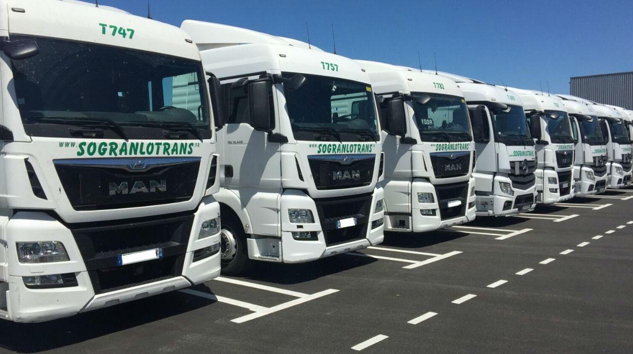 Sogranlotrans parc de camions prestations tranports