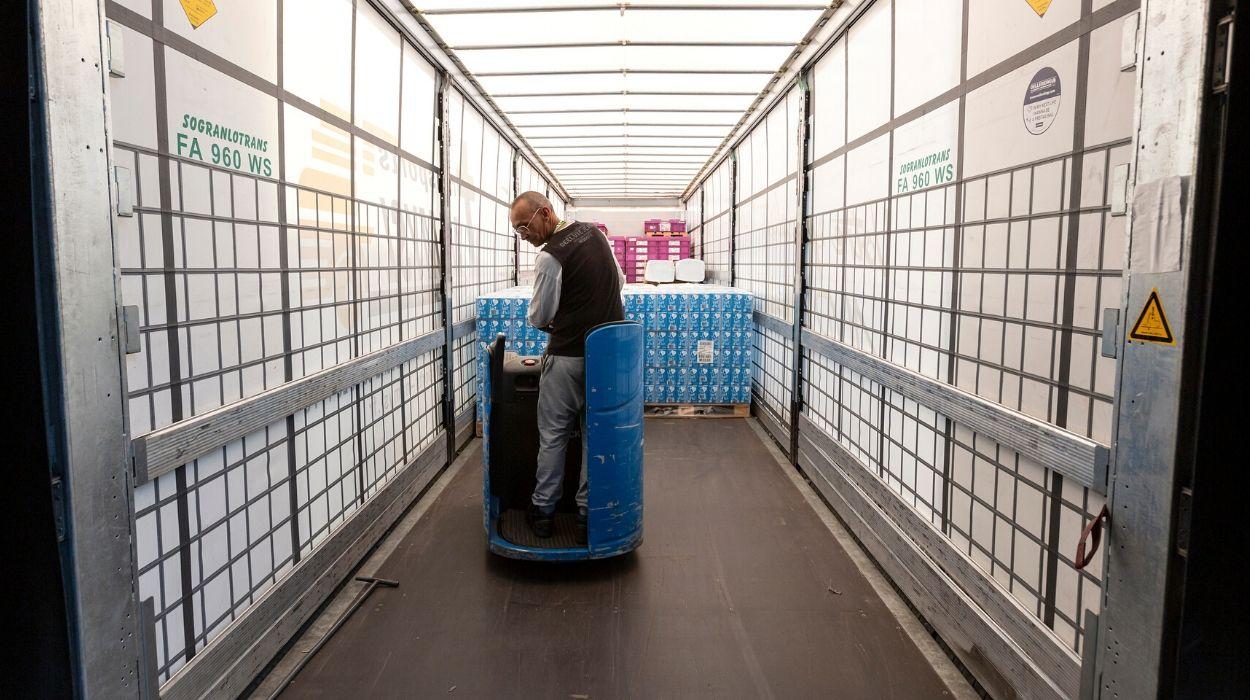 Sogranlotrans preparation distribution chariot remorque