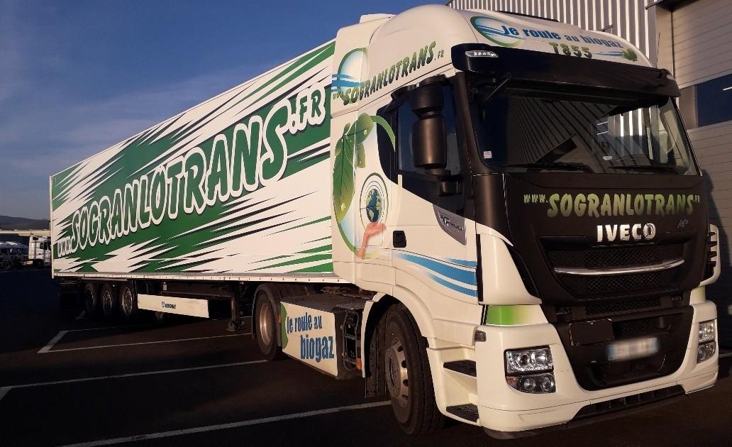 Sogranlotrans camion ecologique au biogaz