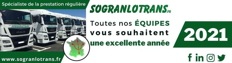 L'équipe de Sogranlotrans vous souhaite une excellente année 2021